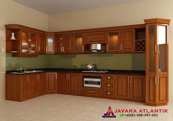 Kitchen Set Minimalis Jati Modern Natural Javara Atlantik Furniture