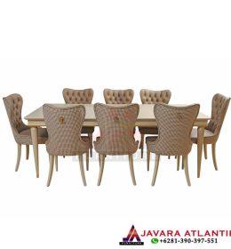 Set Meja Makan Modern Atlantis Brown